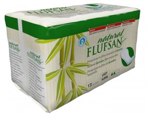 FLUFSAN 12 Serviettes de Protection Incontinence en Bambou - Super