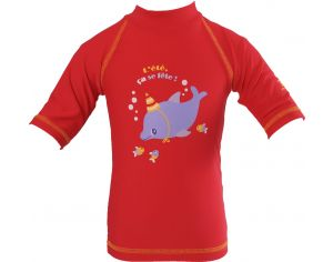 PIWAPEE Top Lycra Anti UV UPF50+ - Dauphin Rouge 3-6M