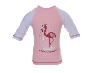 PIWAPEE Top Lycra Anti UV UPF50+ - Flamingo Rose poudré