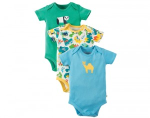 FRUGI Lot de 3 Bodys Manches Courtes - La Savane