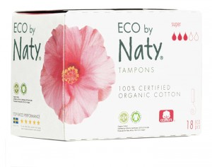 NATY Tampons Super Sans Applicateur - Boite de 18