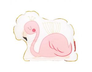 LITTLE CREVETTE Coussin Flamant rose