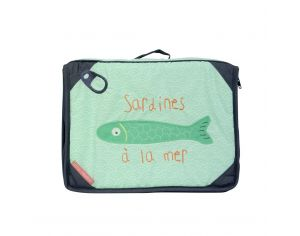 LITTLE CREVETTE Trousse de toilette sardine