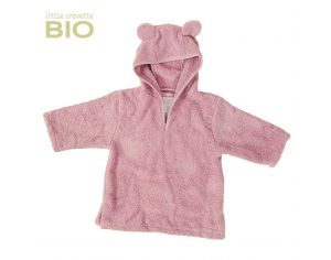LITTLE CREVETTE Poncho de bain enfant Ourson rose