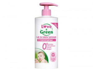 LOVE & GREEN Lait de Toilette Hypoallergénique - 750 ml