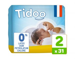 TIDOO Couches Jetables Eco  Mini 3-6 kg - 31 couches
