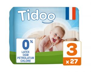 TIDOO Couches Jetables Eco  Midi 4-9 kg - 27 couches