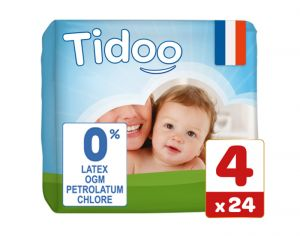 TIDOO Couches Jetables Eco  Maxi 7-18 kg - 24 couches