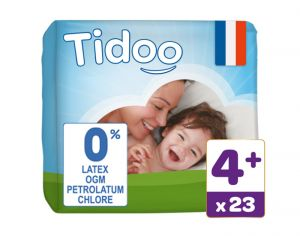 TIDOO Couches Jetables Eco  Maxi+ 9-20 kg - 23 couches