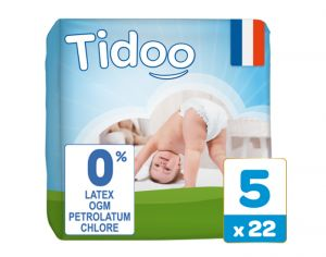 TIDOO Couches Jetables Eco  Junior 12-25 kg - 22 couches