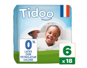 TIDOO Couches Jetables Eco  XL 16-30 kg - 18 couches