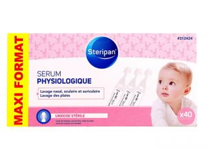 STERIPAN Sérum Physiologique - 40 Unidose de 5 ml