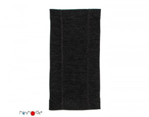MANYMONTHS Snood Multitube - Laine Mérinos - Foggy Black Taille 6-30 mois