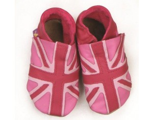 STARCHILD Chaussons Union Jack Pink