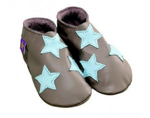 STARCHILD Chaussons Star Taupe Bleu