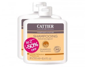 CATTIER Lot de 2 Shampooings Yogourt - 2 x 250 ml