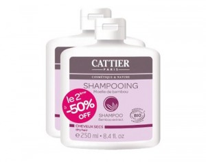 CATTIER Lot de 2 Shampooings Bambou - 2 x 250 ml