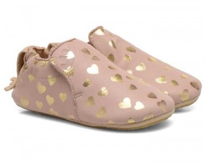 EASY PEASY Chaussons en Cuir Blublu Lovely Guimauve