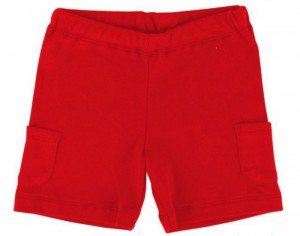 IOBIO Garden Party - Short en Coton Bio - Rouge 3-6 mois (62-68 cm)