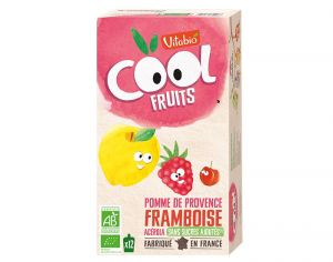 VITABIO Pack Famille Cool Fruits Pomme-Framboise-Acérola 12x90g