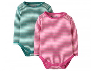 FRUGI Lot de 2 Body Manches Longues - Mailles Pointelles
