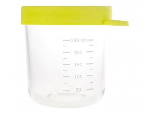 BEABA Pot de Conservation en Verre - Neon - 250 ml
