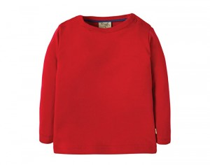 FRUGI T-Shirt Manches Longues - Rouge 6-12 mois