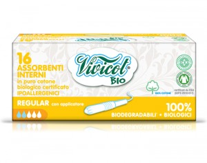 VIVICOT Tampons avec Applicateur Normal - Boite de 16
