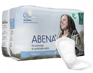 ABENA Light Serviettes Incontinence Extra - Paquet de 10 - 500 ml