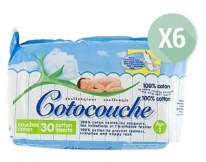 TETRA Cotocouches Anallergiques - Anti-Irritations - 6 x 30