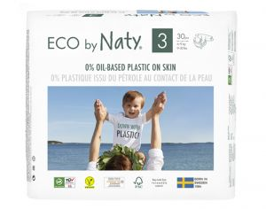 NATY Couches Écologiques Eco by Naty T3 / 4-9 kg / 30 couches