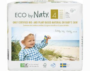 NATY Couches Écologiques Eco by Naty T4 / 7-18 kg / 26 couches