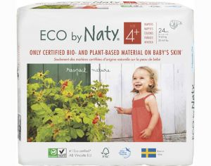 NATY Couches Écologiques Eco by Naty T4+ / 9-20 kg / 24 couches
