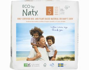 NATY Couches Écologiques Eco by Naty T5 / 11-25 kg / 22 couches