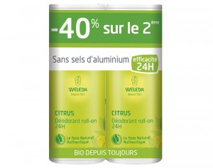 WELEDA Offre Duo Déodorant Roll On - Citrus - 2 x 50 ml