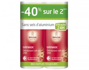 WELEDA Offre Duo Déodorant Roll On - Grenade - 2 x 50 ml