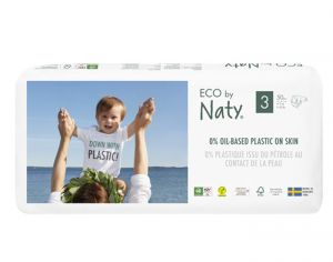 NATY Couches Écologiques Eco by Naty - Pack Economique x4 T3 / 4-9 kg / 4 x 50 couches