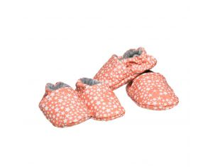 CHOUCHOUETTE Chaussons souples 6 - 12 mois Constellation Corail