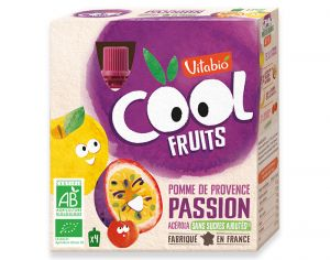 VITABIO Cool Fruits Pomme Passion - 4 x 90 g