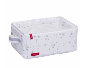MAISON NOUGATINE PANNIERE TOILETTE CONSTELLATION 100% COTON BIO made in france