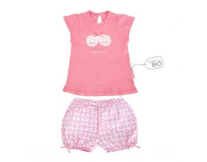 LITTLE CREVETTE Pyjama-short fille Pyjama Party