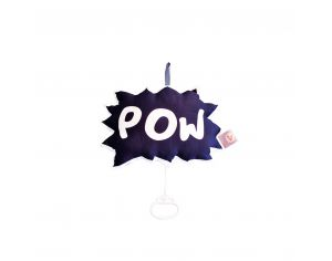 CAROTTE & Cie Coussin musical POW Super héros Wonderful World