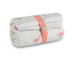 CAROTTE & Cie Couverture Nomade Flamant Rose