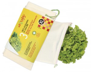 AH TABLE Lot de 3 Sacs en Coton Bio - Légumes Volumineux - XL : 40x40cm