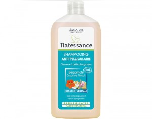 NATESSANCE Shampooing Anti-Pelliculaire Sans Sulfates - 500 ml