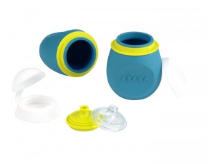 BEABA Set BabySqueez 2 in 1 & Squeez Portion - Blue - 180 ml