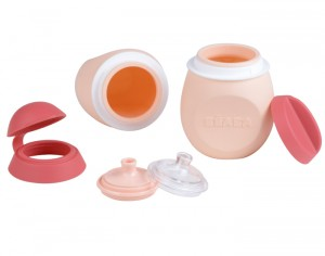 BEABA Set BabySqueez 2 in 1 & Squeez Portion - Pink - 180 ml