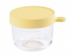 BEABA Pot de Conservation en Verre - Yellow - 150 ml