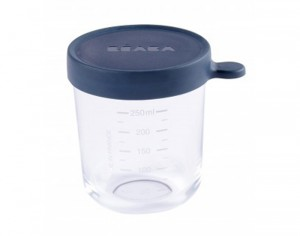 BEABA Pot de Conservation en Verre - Dark Blue - 250 ml