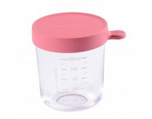 BEABA Pot de Conservation en Verre - Dark Pink - 250 ml